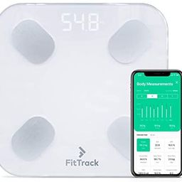 FitTrack Dara Smart BMI Digital Scale - Measure Weight and Body Fat - Most Accurate Bluetooth Gla... | Amazon (US)