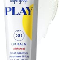 Supergoop! PLAY Lip Balm with Acai, 0.5 fl oz - SPF 30 PA+++ Reef Safe, Broad Spectrum Sunscreen ... | Amazon (US)