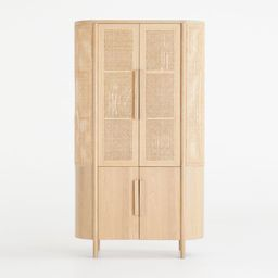 Fields Natural Storage Cabinet by Leanne Ford + Reviews | Crate and Barrel | Crate & Barrel
