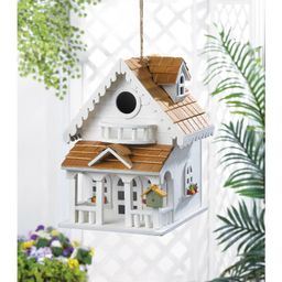 Two Story Happy Home 10.5 in x 8 in x8.5 in Birdhouse   Wayfair Professional