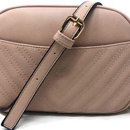 Lola Mae Quilted Crossbody Bag, Trendy Design Shoulder Purse | Amazon (US)