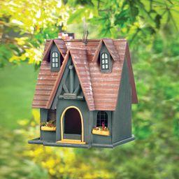 Luetta Fairytale Cottage 13 in  x 10 in x 9 in Hanging Birdhouse   Wayfair Professional