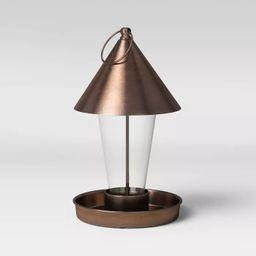 """11"""" Mild Steel/Glass Bird Feeder Copper Brown - Smith & Hawken™   Target"""