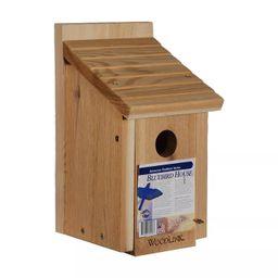 Woodlink 24301 BB1 Outdoor Wooden All Natural Inland Red Cedar Wood Bluebird Song Bird House Box   Target