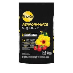 Miracle-Gro 6 qt. Performance Organics All Purpose Potting Soil Mix-45606300 - The Home Depot | The Home Depot