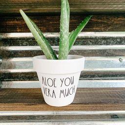 Aloe You Vera Much Plant Pot Funny Pot Punny Planter Cute | Etsy | Etsy (US)