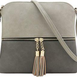 Lightweight Medium Crossbody Bag with Tassel | Amazon (US)