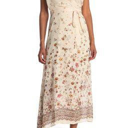 Floral Border Print Wrap Dress | Nordstrom Rack