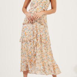 Floral Ruffled Sleeveless Maxi Dress | Nordstrom Rack
