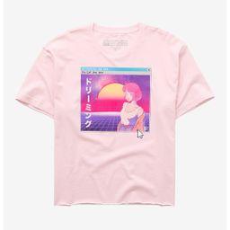 Anime Vaporwave Girls Crop T-Shirt Plus Size   Hot Topic