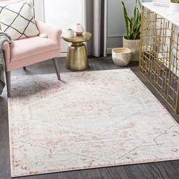 Braewyn Oriental Pink/White Area Rug | Wayfair North America