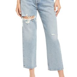 '90s Ripped Crop Loose Fit Jeans | Nordstrom
