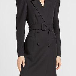Puff Sleeve Belted Blazer Dress   Express