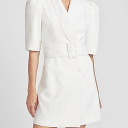 Ladygang Belted Puff Sleeve Blazer Dress   Express