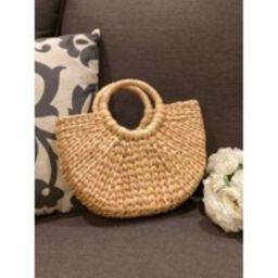 Half Moon Shaped Handwoven Water Hyacinth Handbag - Round Handle Summer Beach Bag - Semicircle Handm   Etsy (US)