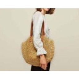 Women Bohemia Beach Straw Woven Bags Rattan Basket Shoulder Bag Round Handbag   Etsy (US)
