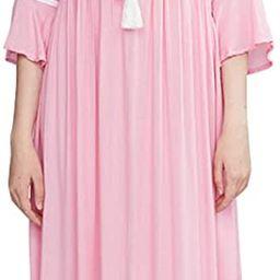 R.Vivimos Women's Autumn 3/4 Sleeves V Neck Embroidered Ruffles Midi Dress | Amazon (US)