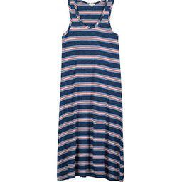 Dylan by True Grit True Blues Long Tank Dress in Coastal Stripe (Indigo) Women's Clothing | Zappos