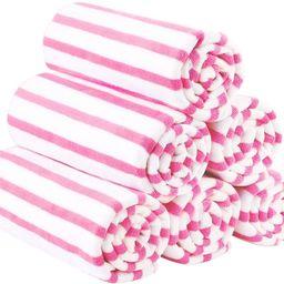 "JML Microfiber Beach Towels, Quick Dry Towel Set (6Pack, 27"" x 55"") - Cabana Stripe - Multi Purpo...   Amazon (US)"