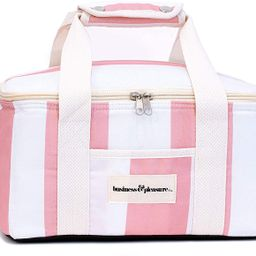 Business & Pleasure Cooler Bag - Cute Lunch Bag in Pink Crew Stripe, Fits Lunch or 12 Drinks, Ins...   Amazon (US)
