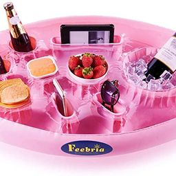 FEEBRIA Inflatable Floating Drink Holder with 9 Holes Large Capacity Drink Float for Pools & Hot ...   Amazon (US)