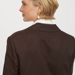 Oversized Linen-blend Jacket   H&M (US)
