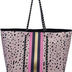 Trymall Large Tote, Multipurpose Neoprene Bags Leopard Travel Shoulder for Beach Work | Amazon (US)