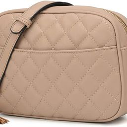 Lola Mae Quilted Crossbody Bag, Medium Lightweight Shoulder Purse Top Zipper Tassel Accent | Amazon (US)