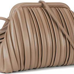 Clutch Purse and Cloud Dumpling Bag,Small Crossbody Bags for Women,Trendy Ruched Shoulder Handbag... | Amazon (US)