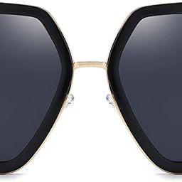 Oversized Square Sunglasses for Women Fashion Hexagon Sun Glasses 100% UV Protection Shades | Amazon (US)