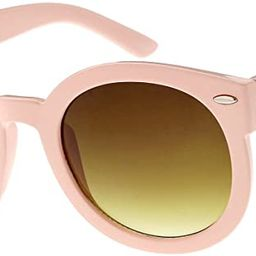 Round Retro Oversized Sunglasses for Women with Colored Mirror and Neutral Lens 53mm | Amazon (US)