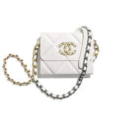 CHANEL 19 Flap Coin Purse with Chain | Chanel, Inc.