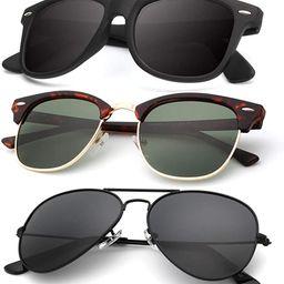 KALIYADI Classic Aviator Sunglasses for Men Women Driving Sun glasses Polarized Lens 100% UV Bloc... | Amazon (US)