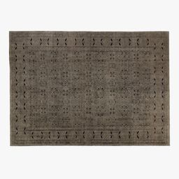 Raumont Hand-knotted Brown Detailed Rug 10'x14' | CB2 | CB2