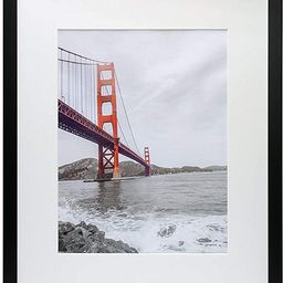 Frametory, 16x20 Black Picture Frame - Made to Display Pictures 11x14 Photo with Ivory Color Mat ... | Amazon (US)