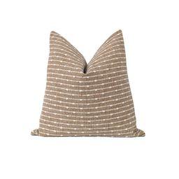 Farmhouse Decorative Pillow Cover Dark Sand Woven Pillow   Etsy   Etsy (US)