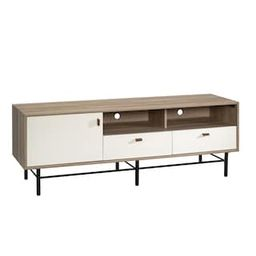 SAUDER Anda Norr 60 in. Sky Oak Particle Board TV Stand with 2 Drawer Fits TVs Up to 60 in. with ...   The Home Depot