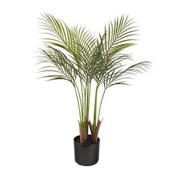 NATURAE DECOR Areca Palm 35 in. Indoor/Outdoor Artificial-OUT-PALM-35BC - The Home Depot   The Home Depot