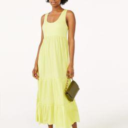 Scoop Women's Sleeveless Tiered Midi Sundress | Walmart (US)