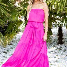 Shining Sensation Fuchsia Pink Maxi Dress | Red Dress