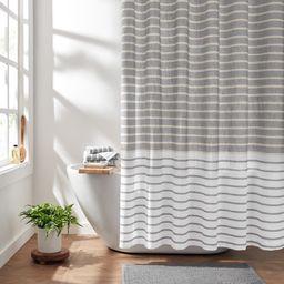 "Gap Home Easy Stripe Organic Cotton Shower Curtain Gray 72""x72""   Walmart (US)"