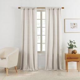 Gap Home Yarn Dyed Chambray Organic Cotton Window Curtain Pair Beige 63   Walmart (US)
