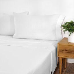 Gap Home T-Shirt Soft Melange Jersey Sheet Set, Queen, White, 4-Pieces   Walmart (US)