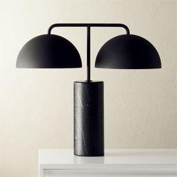 Domes Black Marble Table Lamp + Reviews | CB2 | CB2