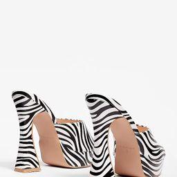 Zebra Platform Block Heel Mules | NastyGal