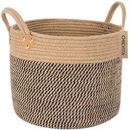 CHICVITA Large Jute Basket Woven Storage Basket with Handles – Natural Jute Laundry Basket Toy ... | Amazon (US)