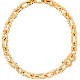 Balenciaga - B-logo Chain-link Necklace - Womens - Gold   Matchesfashion (Global)