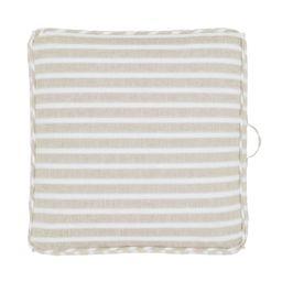 "Gap Home Yarn Dyed Chambray Stripe Indoor Single Floor Square Cushion with Handle Khaki 24"" x 24""... | Walmart (US)"