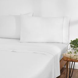 Gap Home Solid Percale Easy Care Sheet Set, Deep Pocket, King, White, 4-Pieces | Walmart (US)