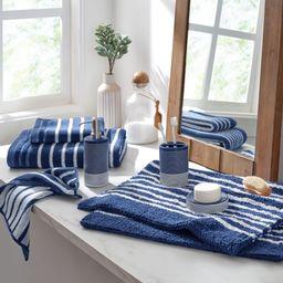 Gap Home Easy Stripe 3 Piece Ceramic Bath Accessory Set Blue | Walmart (US)